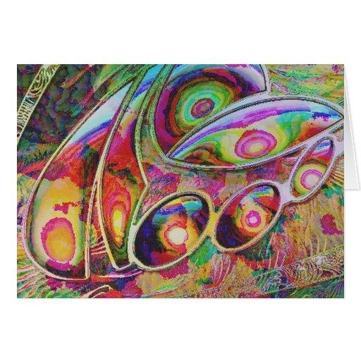 fantasía abstracta, tarjeta de felicitación