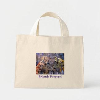 Fantasía azul de las jirafas de la cueva para los  bolsas lienzo