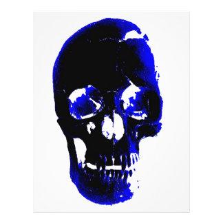 """Fantasía azul del arte pop del cráneo folleto 8.5"""" x 11"""""""
