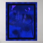 Fantasía azul del dragón de la niebla de Dragoncat Poster