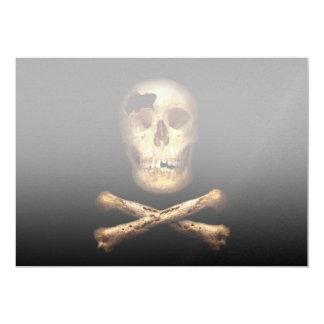 Fantasía - bandera de pirata - soy pirata poderoso invitación personalizada