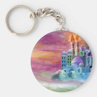 Fantasia Basic Round Button Keychain