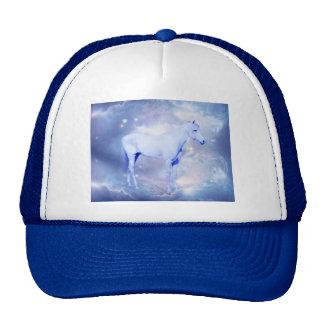 Fantasía blanca del semental gorras