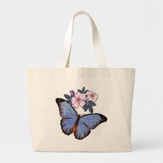 Fantasía colorida Butterfly-02 Bolsa Tela Grande