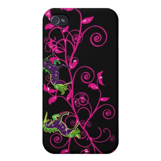 Fantasía colorida, unicornios iPhone 4 funda