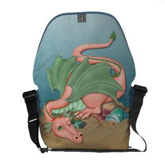 Fantasía coralina del océano del dragón bolsas de mensajería