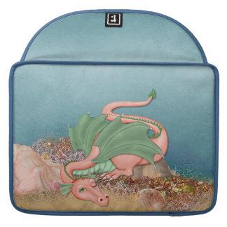 Fantasía coralina del océano del dragón fundas para macbook pro