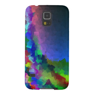 Fantasía cubista en la caja de la galaxia S5 de Funda Galaxy S5