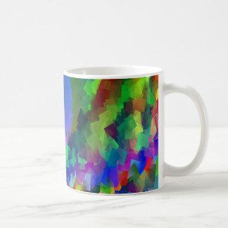 Fantasía cubista en las tazas de café