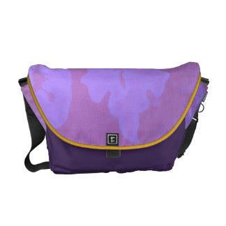 Fantasía de color de malva bolsas messenger