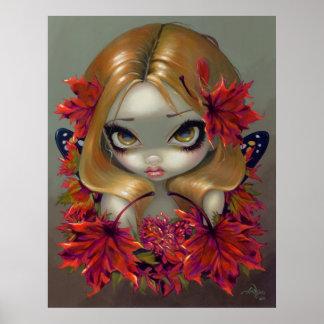 Fantasía de hadas de las hojas de otoño de la IMPR Poster