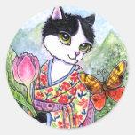 Fantasía de hadas del geisha del gato de los pegat