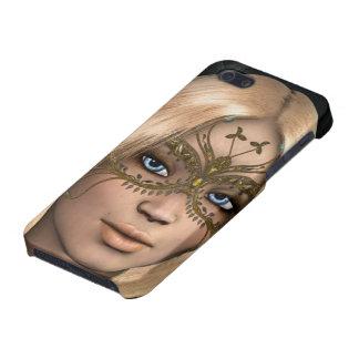 Fantasía de hadas enmascarada mariposa de oro iPhone 5 carcasas