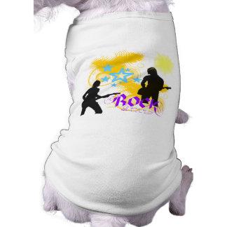 Fantasía de la estrella del rock camisetas de perrito
