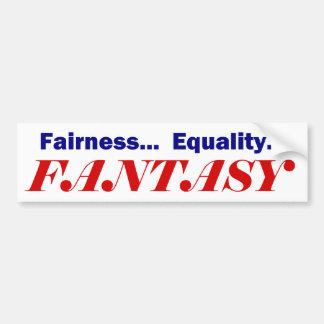 FANTASÍA de la igualdad de la imparcialidad…… Pegatina De Parachoque