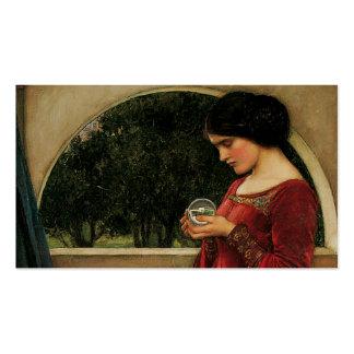 Fantasía de la magia de la pintura del Waterhouse Plantilla De Tarjeta Personal