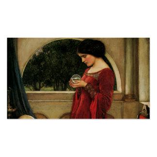 Fantasía de la magia de la pintura del Waterhouse Tarjetas De Visita