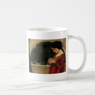 Fantasía de la magia de la pintura del Waterhouse Tazas De Café