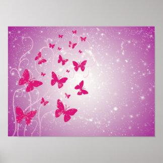 Fantasía de la mariposa póster