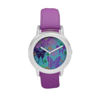 Fantasía de la mariposa relojes de pulsera