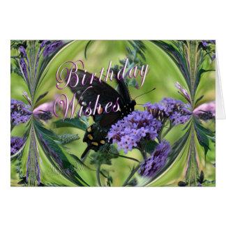 Fantasía de la mariposa tarjeta de felicitación