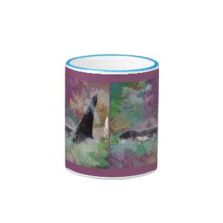 Fantasía de la nube del Orcinus de la ballena de l Tazas De Café