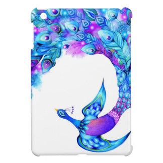 Fantasía de la pluma del pavo real iPad mini cárcasa