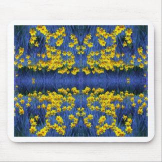 Fantasía de la primavera del narciso tapetes de raton