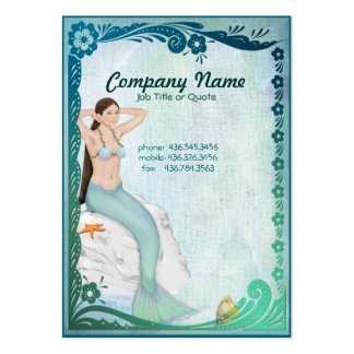 Fantasía de la sirena del verde de mar tarjetas de visita