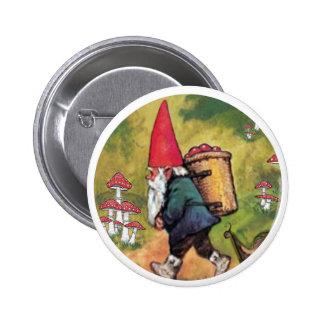 Fantasía de las setas del caracol de la cesta de A Pin Redondo 5 Cm