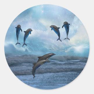 Fantasía de los delfínes etiqueta