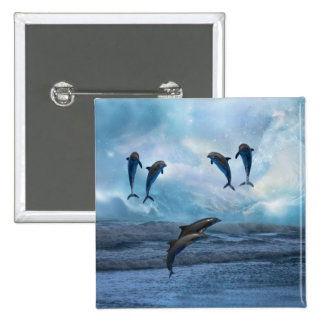 Fantasía de los delfínes pins