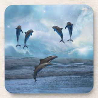 Fantasía de los delfínes posavasos