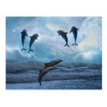 Fantasía de los delfínes postales