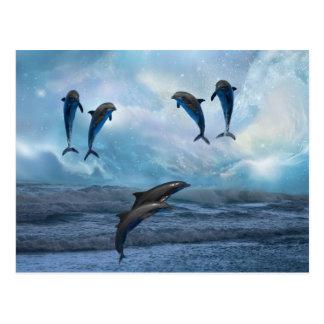 Fantasía de los delfínes tarjetas postales