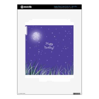 Fantasía de medianoche de la luna del feliz cumple iPad 3 skin