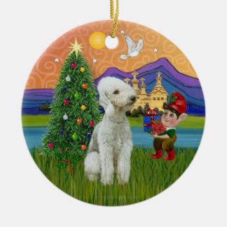 Fantasía de Navidad - Bedlington Terrier Ornamento De Navidad