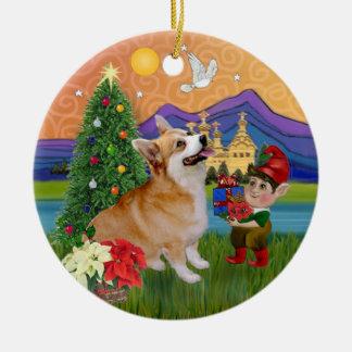 Fantasía de Navidad - Corgi 7b Galés del Pembroke Adorno De Reyes