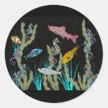 Fantasía de neón subacuática etiquetas