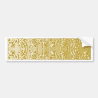 Fantasía de oro pegatina para auto
