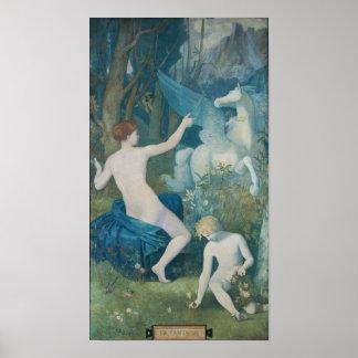 Fantasía de Pedro Puvis de Chavannes Poster