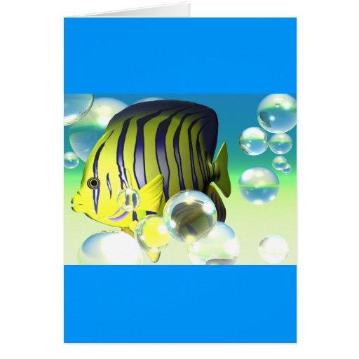 Fantasía del agua del Angelfish inmóvil Tarjeta De Felicitación