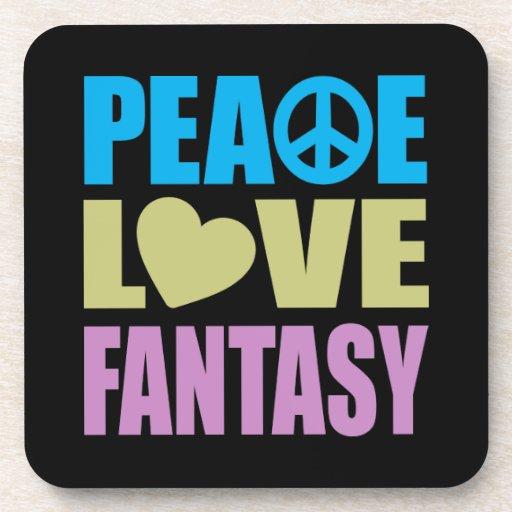 Fantasía del amor de la paz posavasos de bebidas