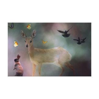 Fantasía del bosque de los bebés impresión en tela