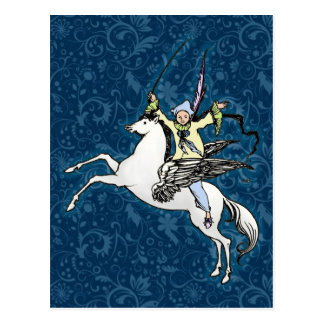 Fantasía del caballo de vuelo de Pegaso Tarjetas Postales