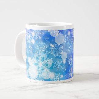 Fantasía del copo de nieve taza grande
