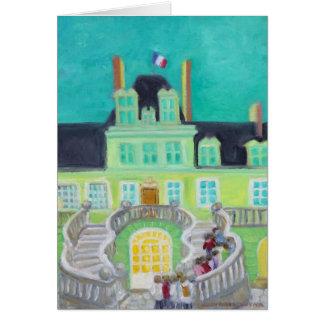 Fantasía del de Fontainebleau del castillo francés Tarjeta Pequeña