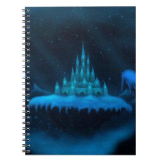 fantasía del día de fiesta del mundo del invierno libro de apuntes con espiral