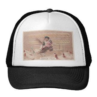 Fantasía del dirigible del vuelo del muchacho del gorra