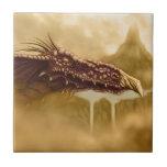 fantasía del dragón de vuelo azulejo
